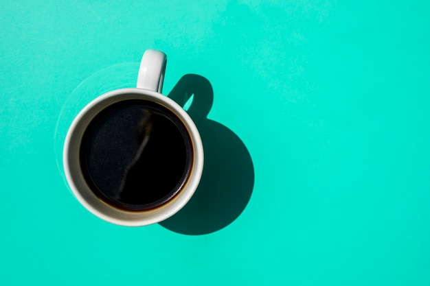 Vista superior taza de café Foto gratis