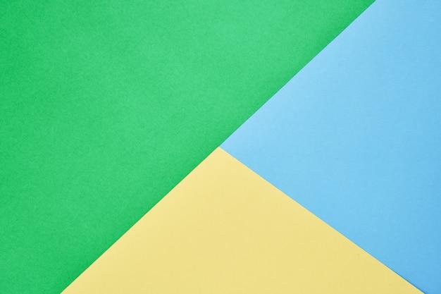 Vista Superior Tres Colores Abstractos Y Fondo De Papel En