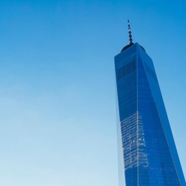 Vista de la torre de one world trade center Foto gratis