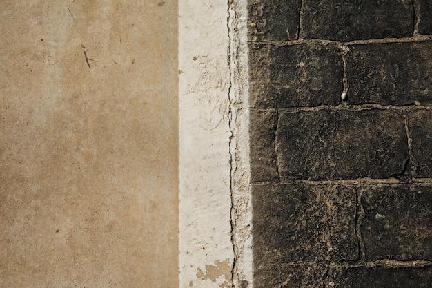 Vista del viejo muro de piedra Foto gratis