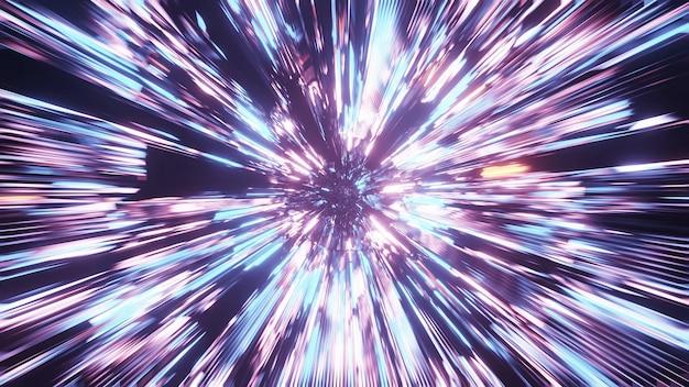 Vivo hermoso patrón de starburst abstracto para el fondo con colores azul, morado y rosa Foto gratis
