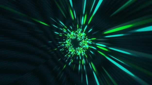 Vortex túnel hiperespacial agujero de gusano tiempo y espacio, warp ciencia ficción fondo 3d Foto Premium