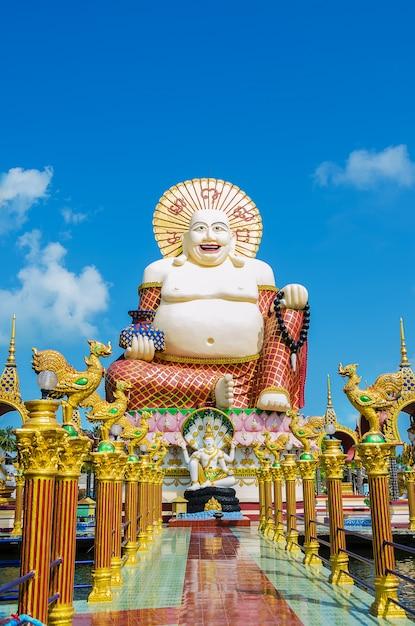 Wat plai laem sobre koh samui. tailandia Foto Premium