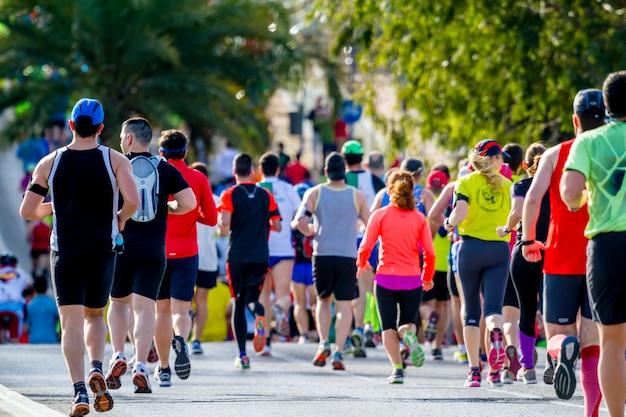 Xxviii media maratón bahía de cádiz Foto Premium