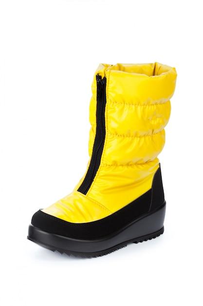 Zapatos para niños aislados en la vista frontal de fondo blanco Foto Premium