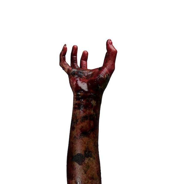 Zombie mano. concepto de tema de halloween. Foto gratis