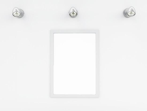 3d modello di cornice vuota con posto per il vostro testo e design Foto Premium