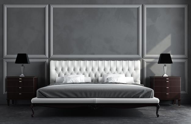 3d rendono della stanza classica Foto Premium