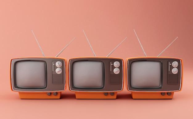 3d retro tv Foto Premium