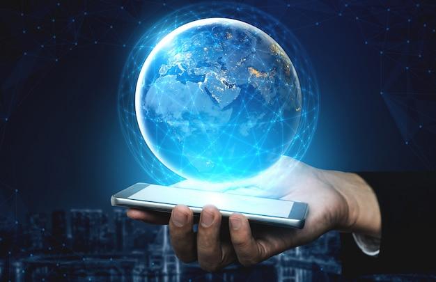 5g tecnologia di comunicazione della rete internet Foto Premium