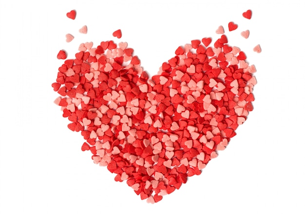 A forma di cuore fatto da caramelle Foto Premium