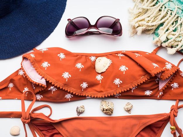 Accessori da spiaggia femminili Foto Premium