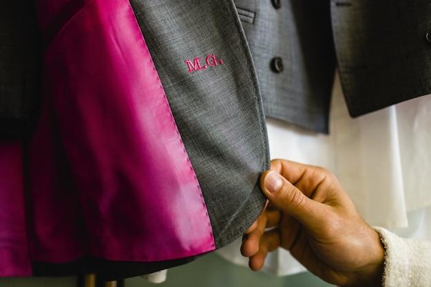 Accessori di abbigliamento per abiti da uomo. Foto Premium