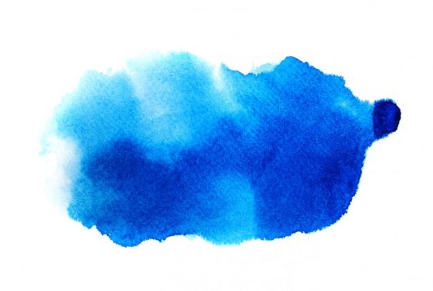 Acquerello blu su bianco Foto Premium