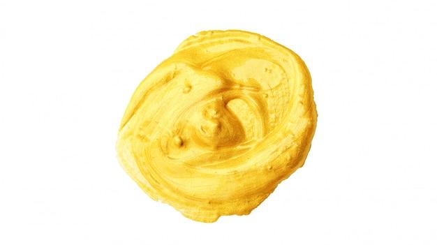 Acquerello del manifesto colorato oro su fondo bianco. Foto Premium