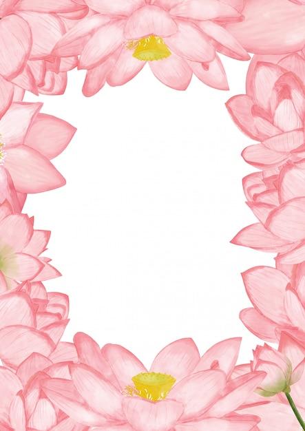 Acquerello sfondo di loto Foto Premium