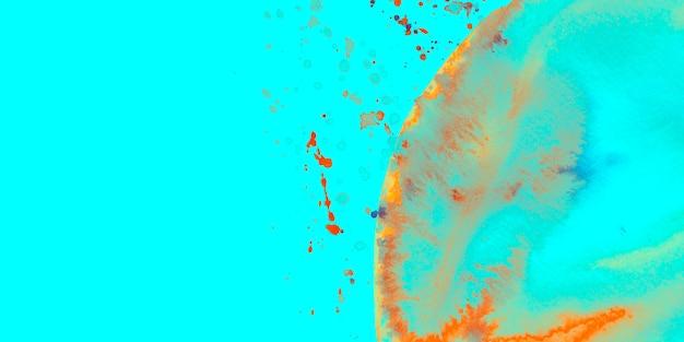 Acquerello spruzza e arco su sfondo turchese Foto Gratuite