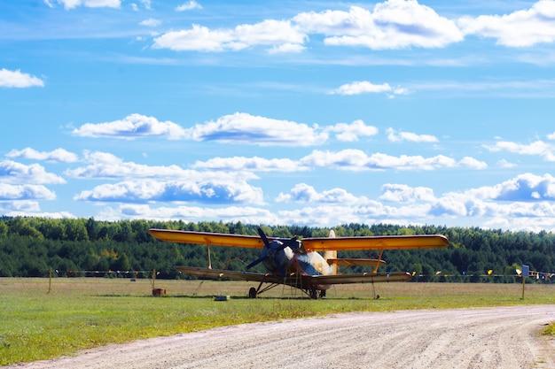Aerei biplano monomotore d'epoca Foto Premium