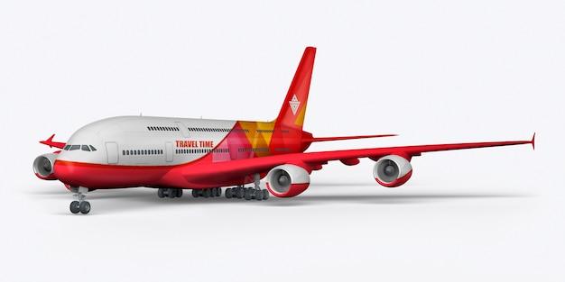 Aereo passeggeri 3d rendering Foto Premium