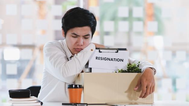 Affari cambio di lavoro, disoccupazione, dimissioni. Foto Premium