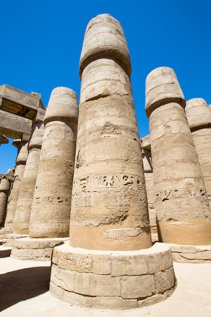 Africa, egitto, luxor, tempio di karnak Foto Premium