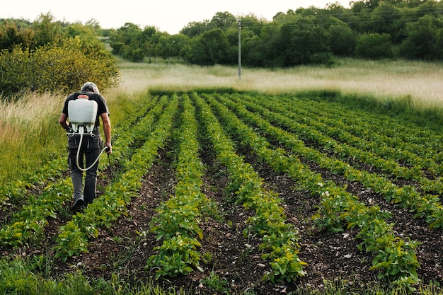 Agricultore funzionante a lungo tiro Foto Gratuite