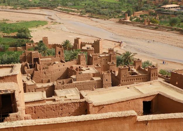 Ait ben haddou, città marocchina fortificata marocchina tradizionale Foto Premium