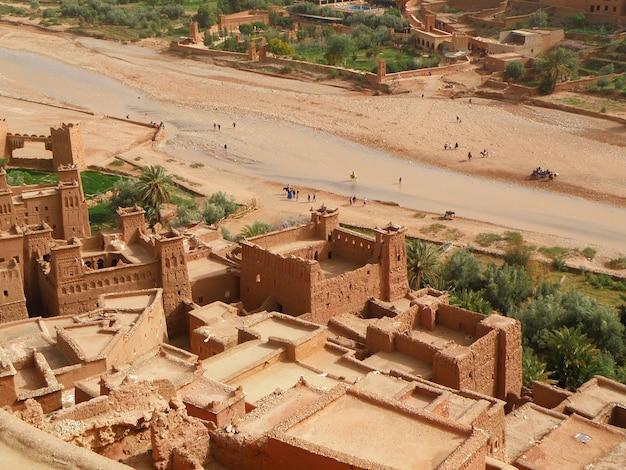 Ait-ben-haddou, l'antica città fortificata in marocco Foto Premium