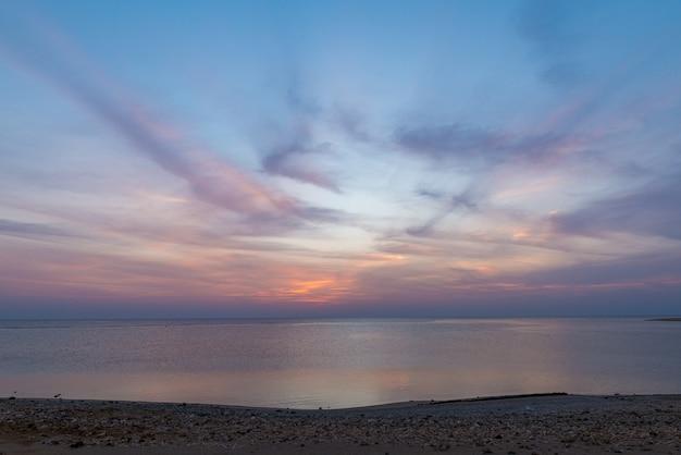 Alba sul mar rosso Foto Premium