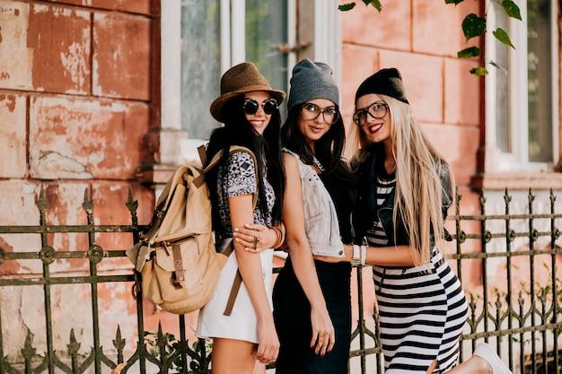 Amici della moda in città Foto Premium