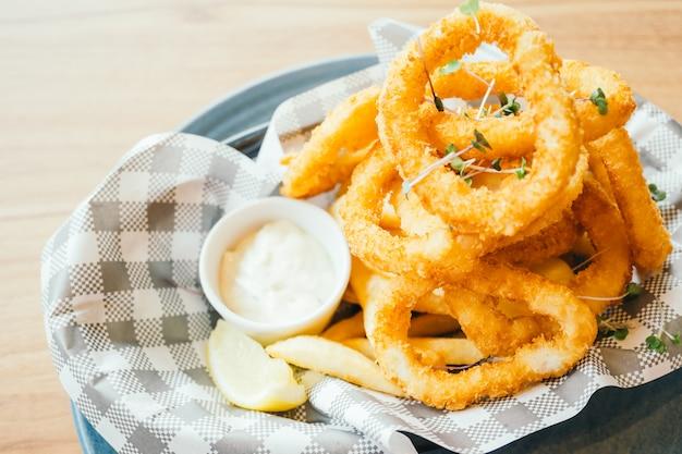 Anello di calamari fritti Foto Gratuite