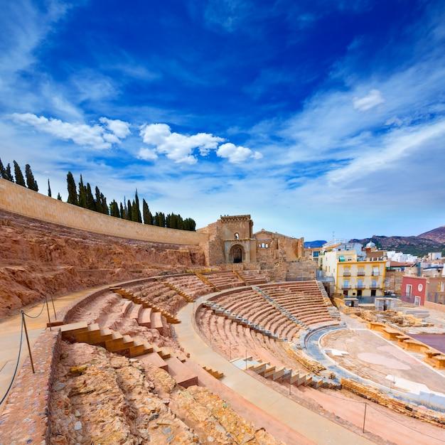 Anfiteatro romano di cartagine in murcia spagna Foto Premium