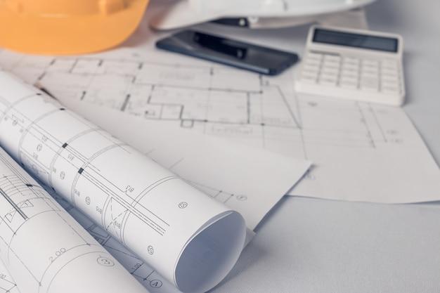 Architetto, concetto di ingegnere, rappresenta lo stile di lavoro degli architetti Foto Premium