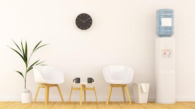 Area living o in ufficio-rendering 3d Foto Premium