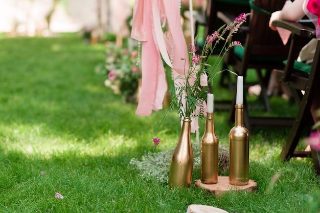 Arredamento cerimonia di nozze Foto Premium