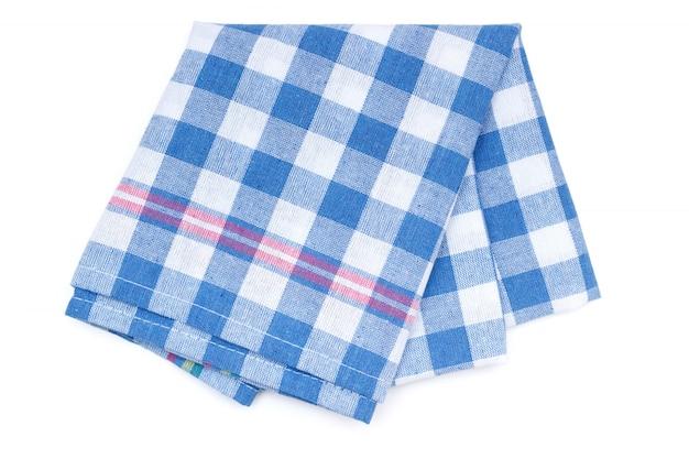 Asciugamano da cucina con motivo patchwork blu Foto Premium