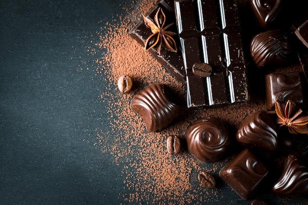 Assortimento di cioccolato Foto Premium