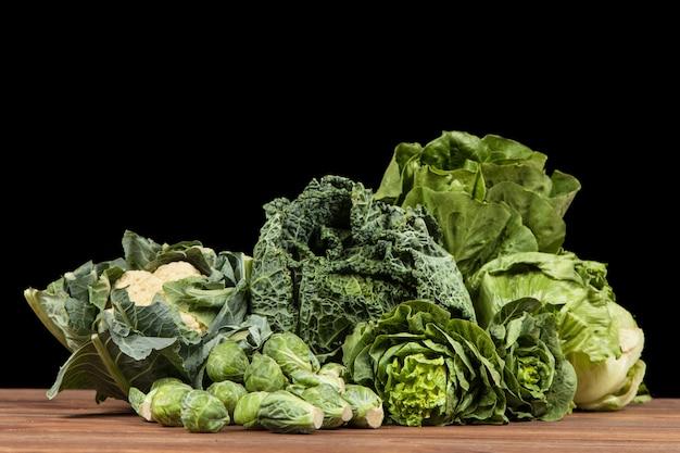 Assortimento di verdure verdi Foto Premium