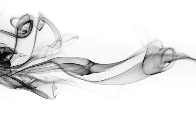 Astratto fumo nero, disegno del fuoco Foto Premium