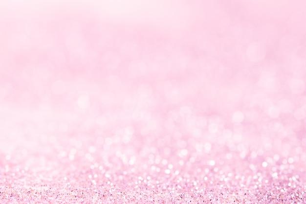 Astratto sfocato glitter rosa bokeh Foto Premium