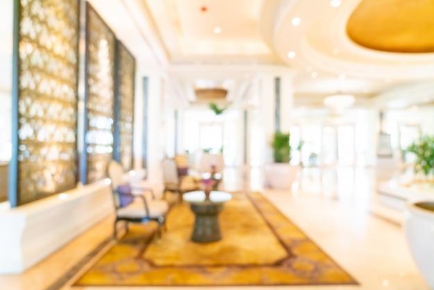 Astratto sfocatura lobby di hotel di lusso per lo sfondo Foto Premium