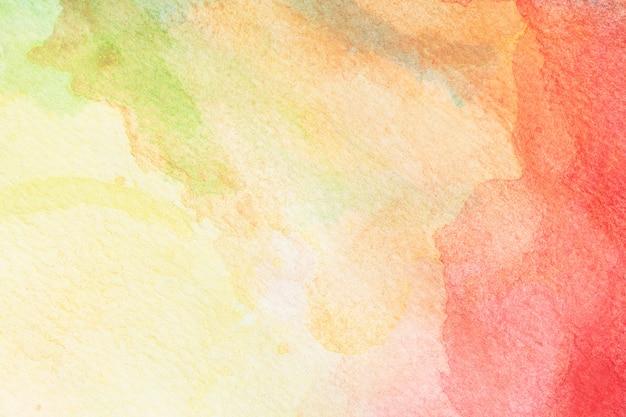 Astratto Sfondo Acquerello Verde Giallo Arancio E Rosa Rossa