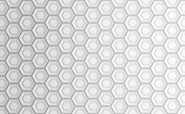 Astratto sfondo bianco geometrico basato sulla griglia esagonale Foto Premium