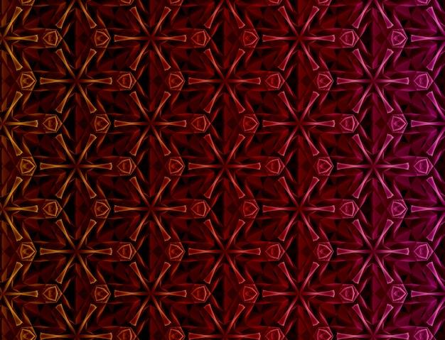 Astratto sfondo colorato geometrico basato sulla griglia esagonale Foto Premium