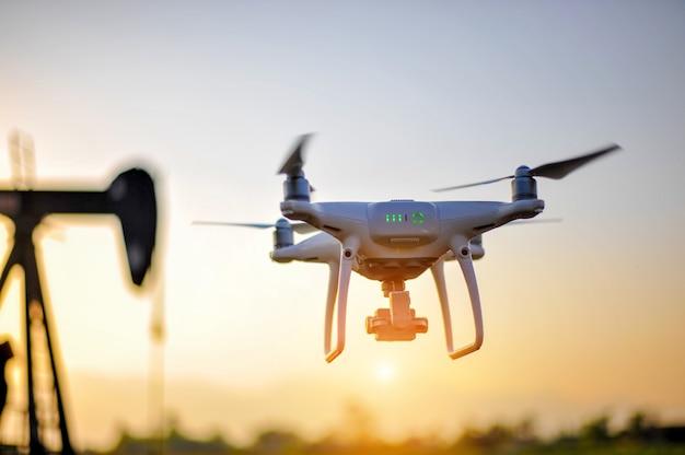Attrezzatura per fotografia aerea dei droni Foto Premium