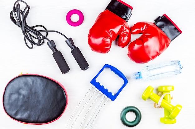 Attrezzature sportive per il fitness Foto Premium