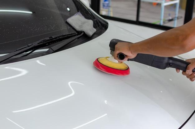 Auto detailing car Foto Premium