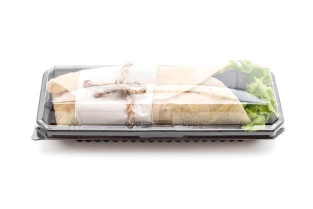 Avvolgere il rotolo di insalata Foto Premium