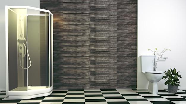 Bagno Moderno Con Vasca Da Bagno : Bagno moderno con vasca e servizi igienici. rendering 3d scaricare