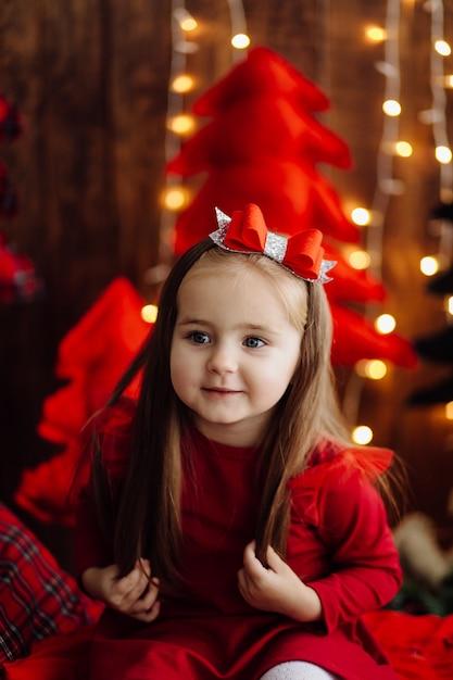 Bambina in studio Foto Gratuite